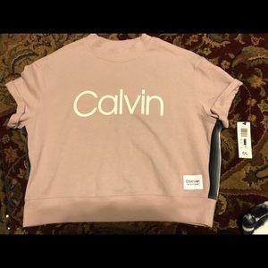 pink calvin klein crop top